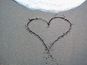Love is written in the sand!!