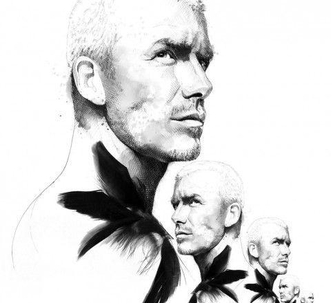 Illustration - David Despau - The Mushroom Company - david beckham
