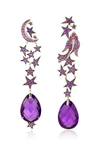 One of a kind zodiac earrings by LYDIA COURTEILLE Preorder Now on Moda Operandi