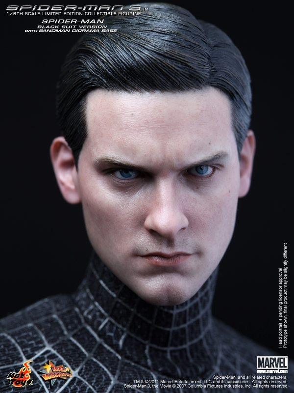 From Spider-Man 3, Hot Toys and Alter Ego Comics bring you the Spider-Man (Black Suit Version) 1:6 Scale Figure. This is the figure that fans have been asking for - a Hot Toys Spider-Man with a Tobey Maquire head sculpt! Not only that, but this Spider-Man figure includes a movie-accurate Sandman diorama base for recreating scenes from Spider-Man 3. $188.99Suits Version, Hot Toys, Spiderman Suits, Comics Bring, Action Figures, Hottoys Spiderman, Black Suits, Spiderman Figures, Spiderman Black