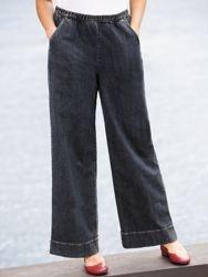 Stretch Wide-leg Pants