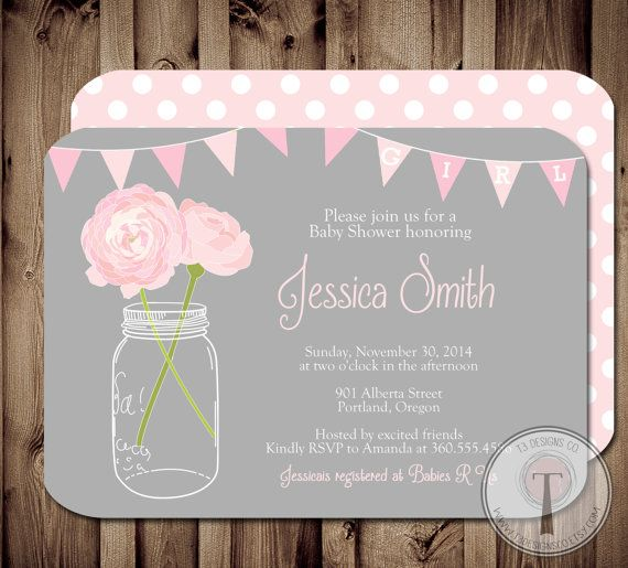 17 best images about baby shower on pinterest | gray baby showers, Baby shower invitations