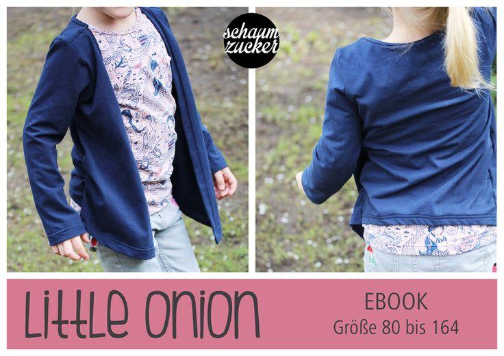Nähanleitungen Mode - Mädchen Oberteil EBook * little onion * 80 bis 164 - ein Designerstück von schaumzucker bei DaWanda
