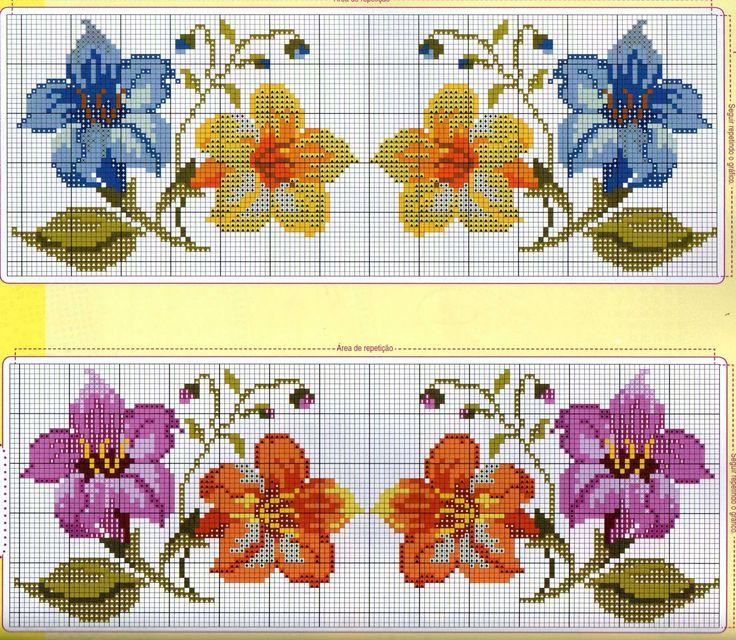 Points de croix *@* cross stitch ENCANTOS EM PONTO CRUZ: Flores