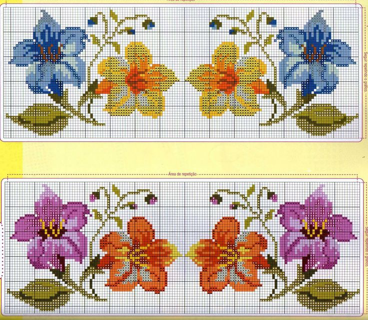 Points de croix *@* cross stitch ENCANTOS EM PONTO CRUZ: Flores