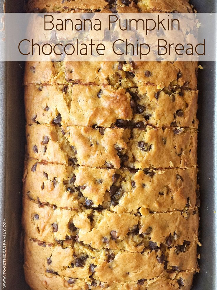Banana Pumpkin Chocolate Chip Bread