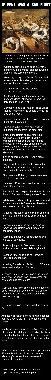 If World War 2 Was A Bar Fight | School Daze | Pinterest ...