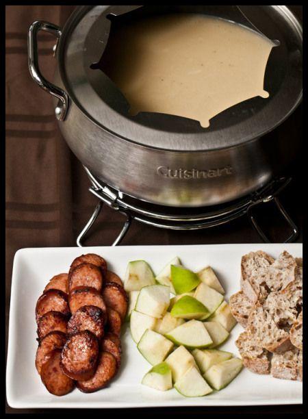 Gruyere and cider fondue
