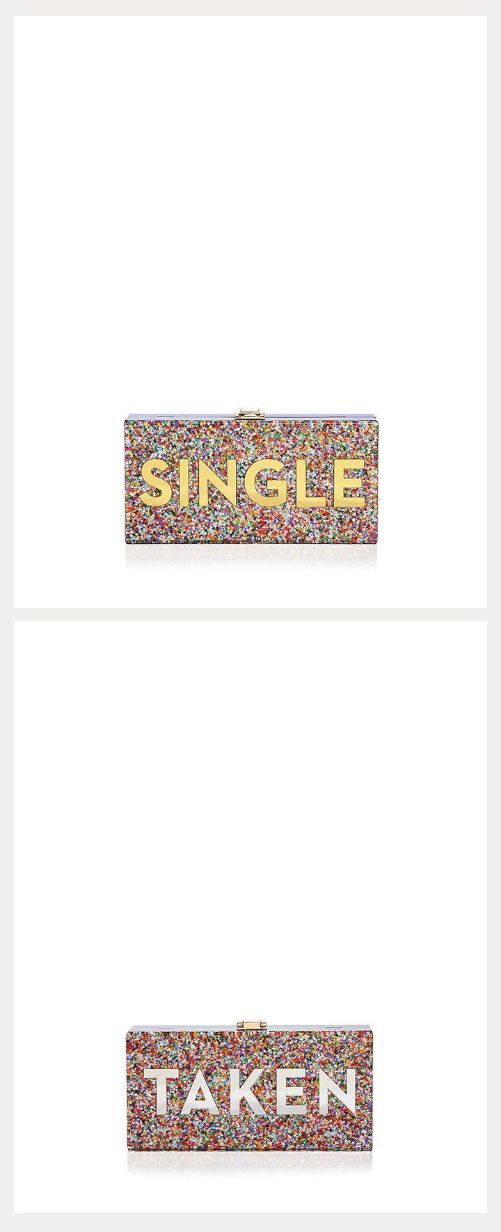 sequin single/taken clutch bag