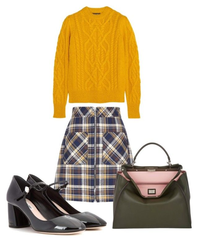 """Good morning, student!"" by anita-wonderlight on Polyvore featuring мода, Miu Miu, Fendi и Isabel Marant"