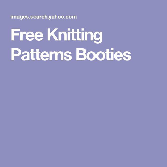 Free Knitting Patterns Booties
