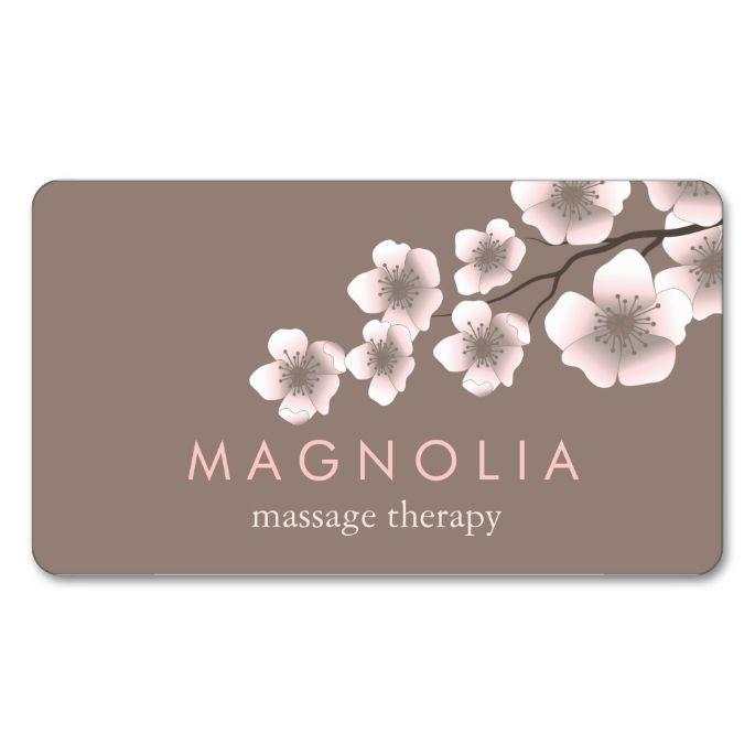 26 best creative alternatives to business cards images on pinterest elegant blossom pink chic zen business card reheart Choice Image