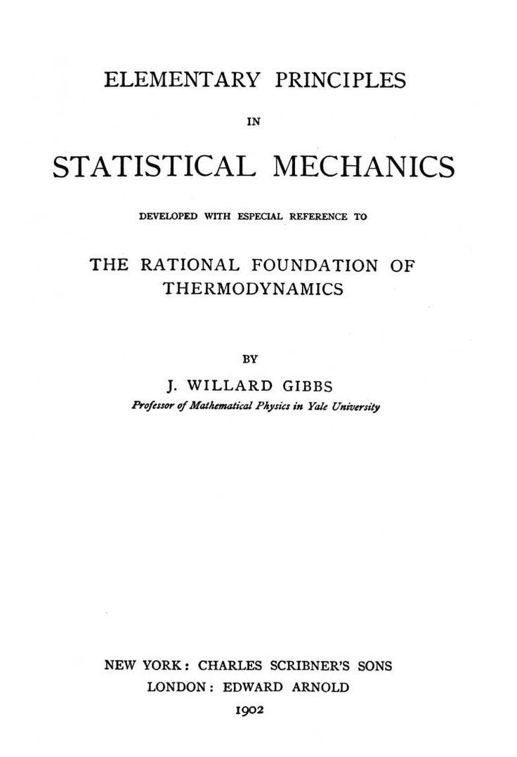 Elementary Principles in Statistical Mechanics - Wikipedia