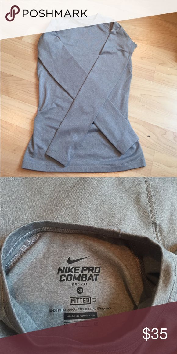 Nike pro combat long sleeve Nike pro combat dri fit fitted long sleeve top Nike Tops Tees - Long Sleeve