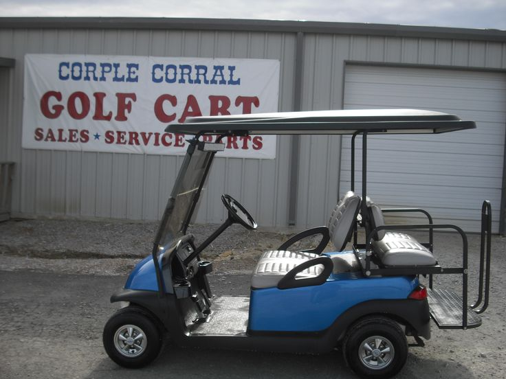 Golf cart for sale.  2005 Blue Club Car golf cart. $3,995.00. We have great carts to choose from with low rate financing. Corple Corral, 17887 US Highway West, Ponder, TX 76259. 940-395-2998. www.corplecorral.com