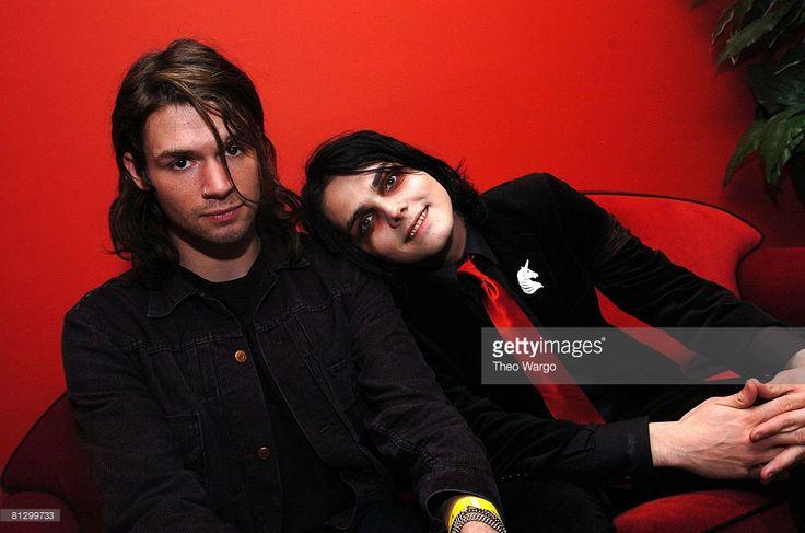Adam Lazzara of Taking Back Sunday and Gerard Way of My Chemical Romance 2005 (Theo Wargo)