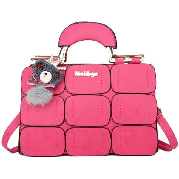 Stitching Shoulder Messenger Bag – Zanlah