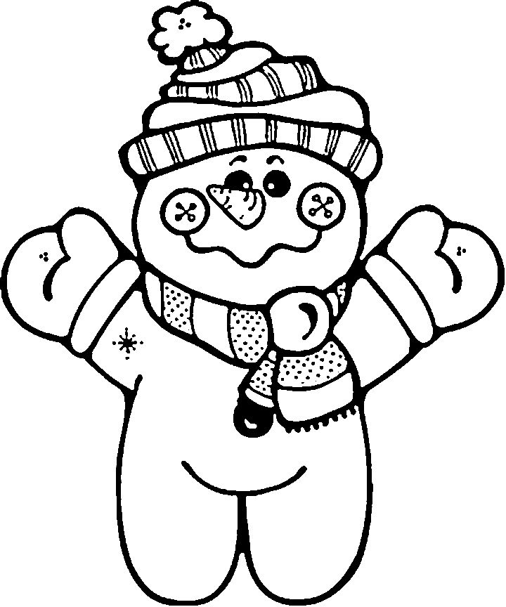 Winter Colouring Pictures For Children