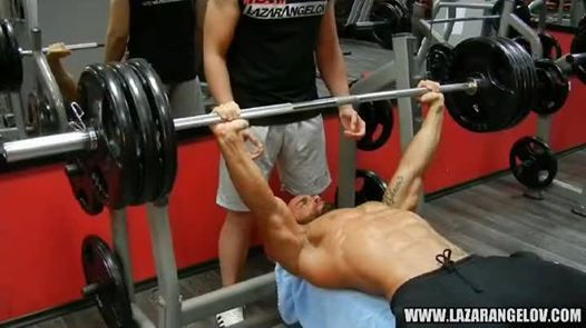 """""""It's Chest Day! Check out one of my chest workouts and go to the gym to show the iron who's the boss!"""" Lazar Angelov. 