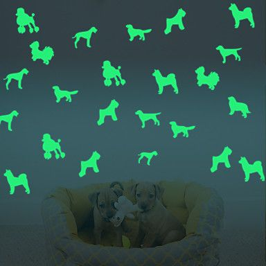 Luminous Wall Stickers Small Dog Decorative Wall Children Home Decoration…