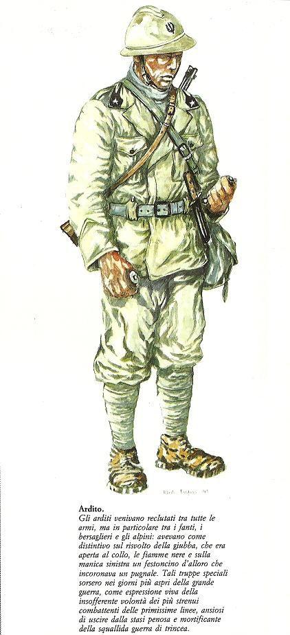 Regio Esercito - Ardito, 1915-18