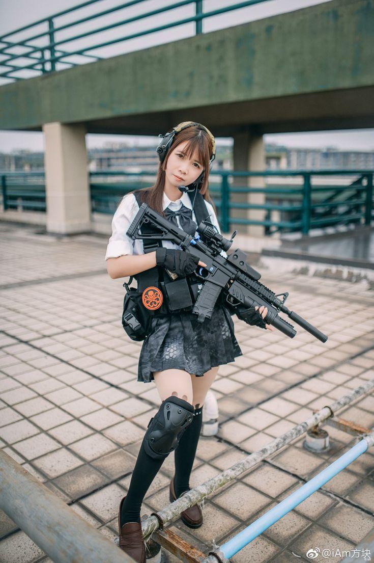 Cosplay girl with gun, thai ass video