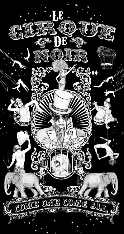 Circus Poster Illustration www.bje-art.co.uk