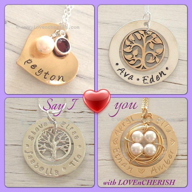 Hand stamped jewellery, personalised jewelry by www.lovencherish.com