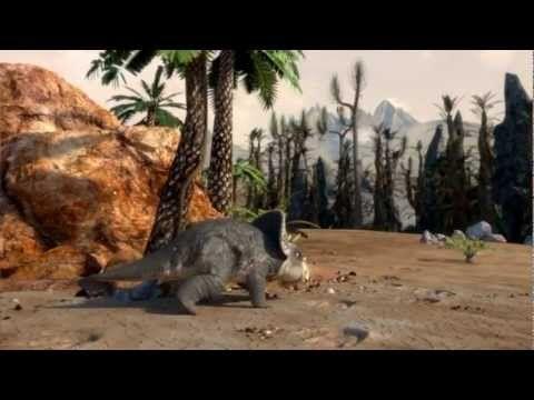 TRICERATOPS / film: Films from DinoPark - (PAS DE PAROLES=MUSIQUE)10m40, intéressant