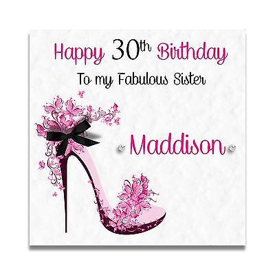 77 best Handmade Personalised Cards images – Sister 21st Birthday Card