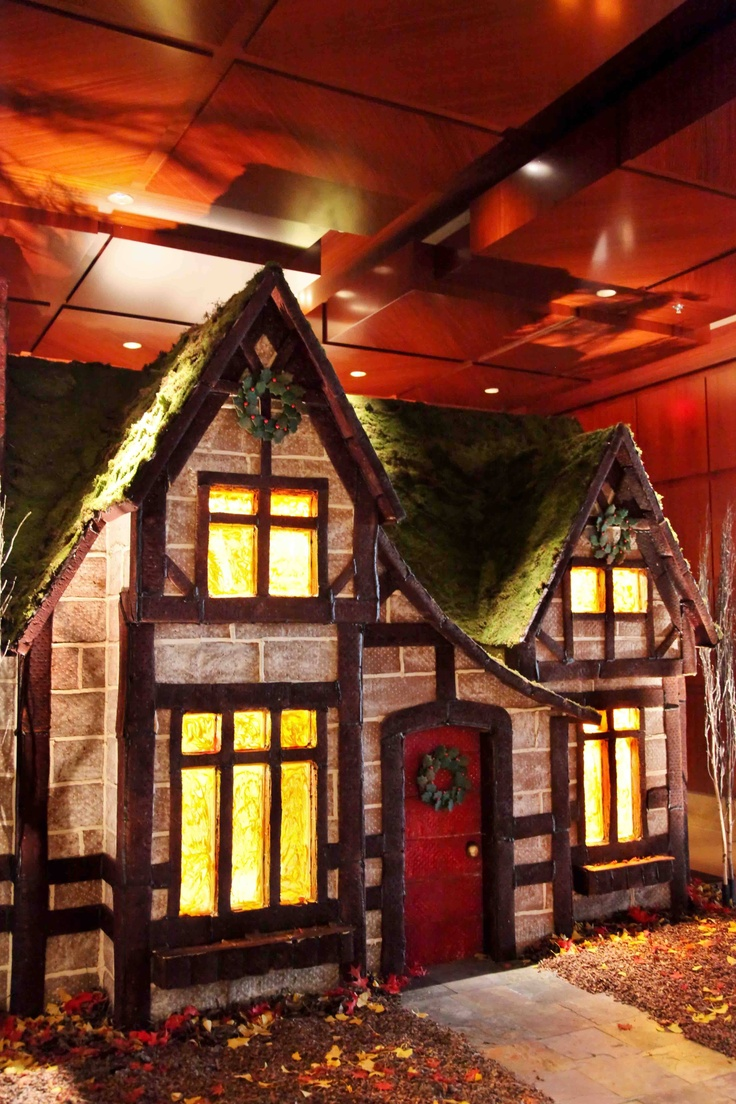 Hotels decked out for christmas with gingerbread