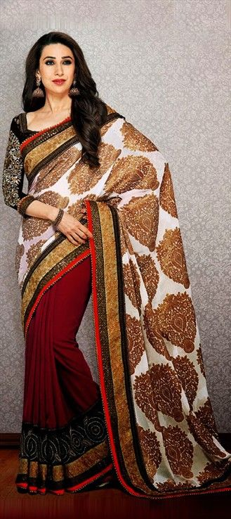 115544: Saree modeled by #bollywood actress Karisma Kapoor
