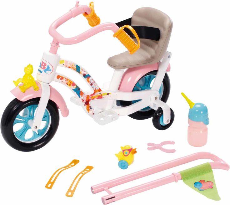 En herlig og morsom dukkesykkel fra Baby Born. Sykkelen har bevegelige pedaler, støttehjul og støttestang - akkurat som en vanlig barnesykkel. Dukkesykkelen har dessuten et tutehorn og et lekkert sete med lærdesign. <br><br>Et originalt og fint dukketilbehør som vil berike ditt barn dukkelek!<br><br>Anbefalt alder: 3 år +. <br><br>Mål forpakning: 42 x 20 x 39 cm.<br>Egenvekt: 1,3 kg. <br><br>Materiale: plast.<br><br>Farge: fler...