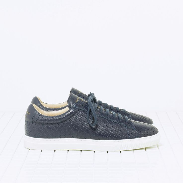 Zespa sneaker navy blue perforated