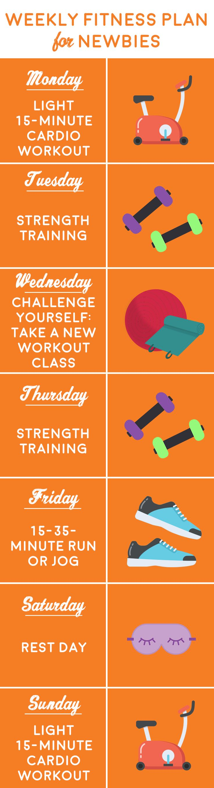 New to fitness? Start with this weekly plan!