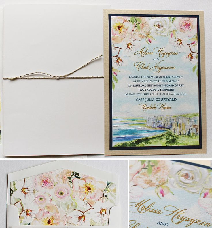 how to make wedding invitation card in microsoft word007%0A Seeing this watercolor landscape of Hawaii makes us want to pack our bags    momentaldesigns  Watercolor Wedding InvitationsWedding