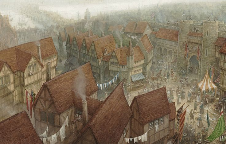 "Character Design London : ""bustling london by p j lynch website"