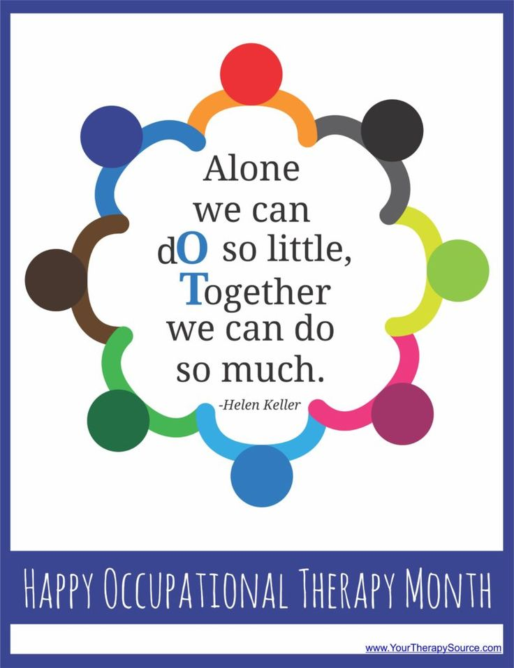 Happy OT Month! FREE Posters to Print! from Your Therapy Source. Pinned by SOS Inc. Resources pinterest.com/sostherapy/