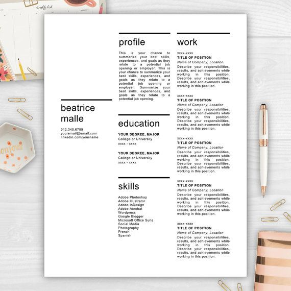 9 best Modern Resume Templates images on Pinterest Cover letter - unique resumes templates
