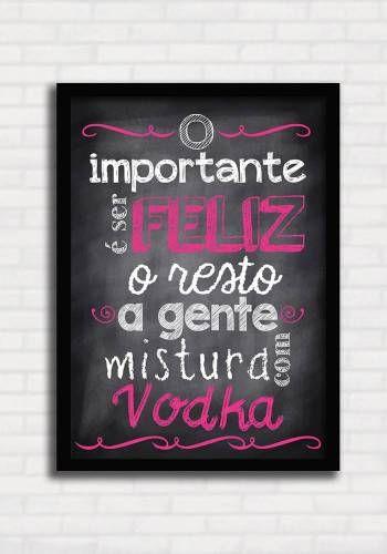 Poster Divertido - Mistura com Vodka 3 - Sabrina Matias TO8121