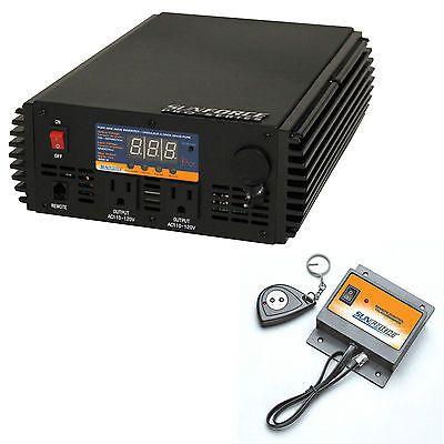 Sunforce 1000 Watt Pure Sine Wave Power Inverter AC Electronic Charger