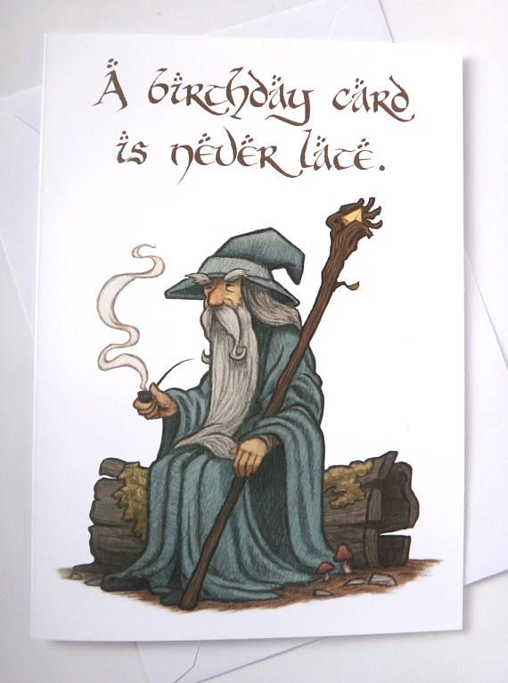 Gandalf Birthday Card Birthday Card Belated Birthday Card Downloadable Birthday Card Lord Of The Rings Card Funny Card Greeting Card In 2021 Belated Birthday Card Dad Birthday Card Diy Birthday Cards