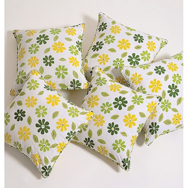 Sunny Flowers Cushion Cover- Bright & sunny! This is what you will ultimately feel, enlightened and cheerful.