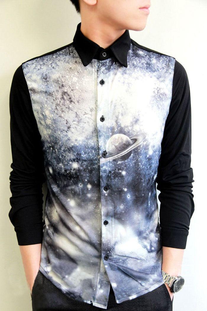 "yeiku: "" space print shirt - $18.27 """