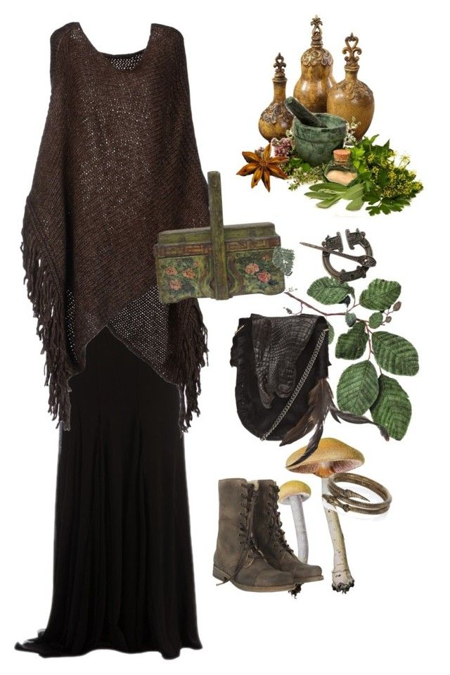 """""""forest harvest"""" by victoriarosaxx ❤ liked on Polyvore featuring Zuhair Murad, Pinko, AllSaints, River Island and Stand+Deliver"""
