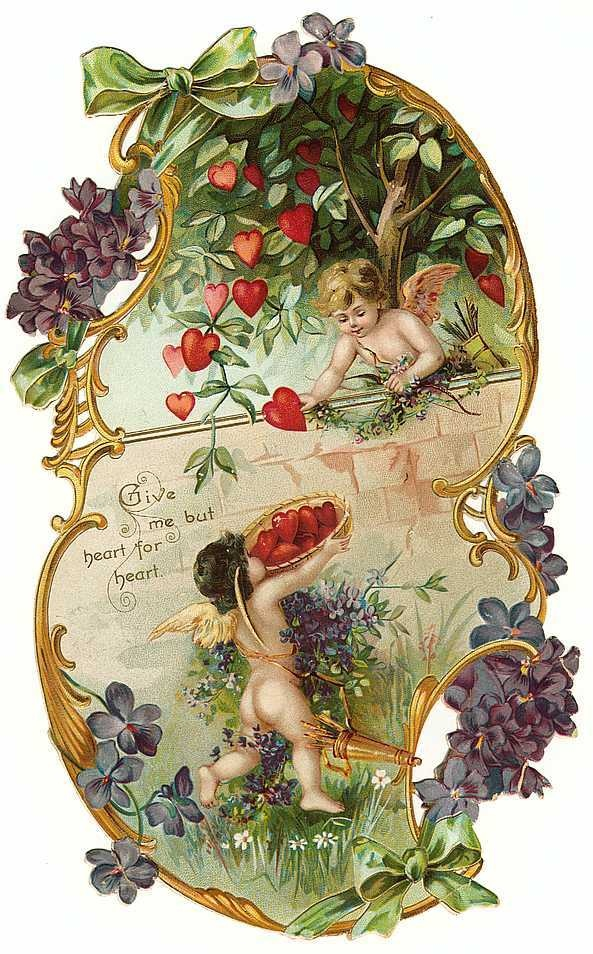 ❥ Romantic Vintage Valentine card