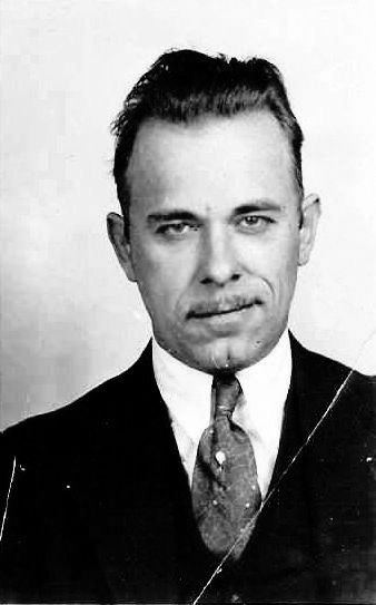 John Herbert Dillinger, Jr. ( June 22, 1903 – July 22, 1934 ), his gang robbed two dozen banks and four police stations, he escaped from jail twice.