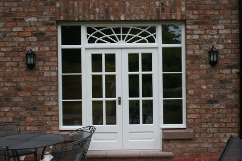 Double doors and frame