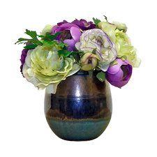 Ranunculus Centerpiece in Modani Vase