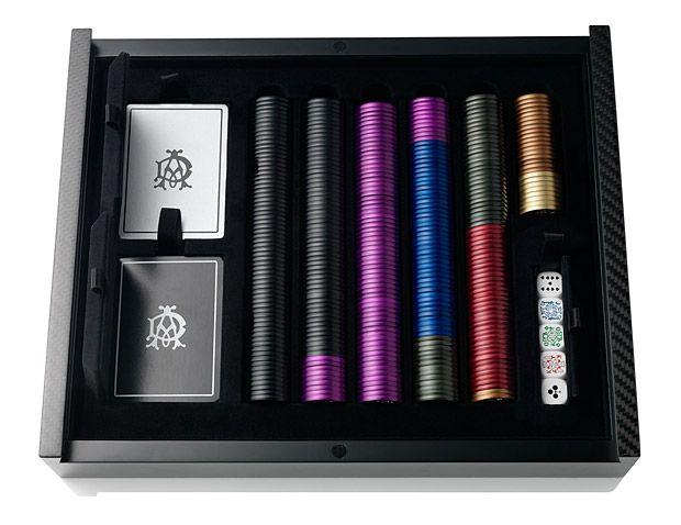 Dunhill Carbon Fiber and Aluminium Poker Set. Something my husband might like.